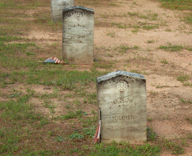 niewiadomi konfederacyjni żołnierze fotografia stock