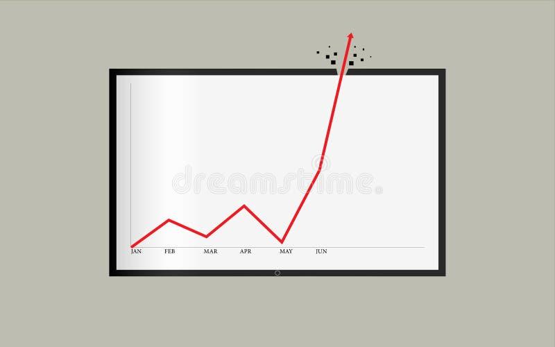 Niewiarygodny sukces lub rejestr w krótki czas statystykach ilustracji