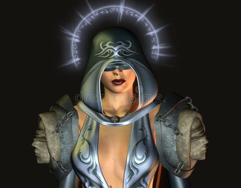 niewidomej fantazi święta kobieta ilustracji