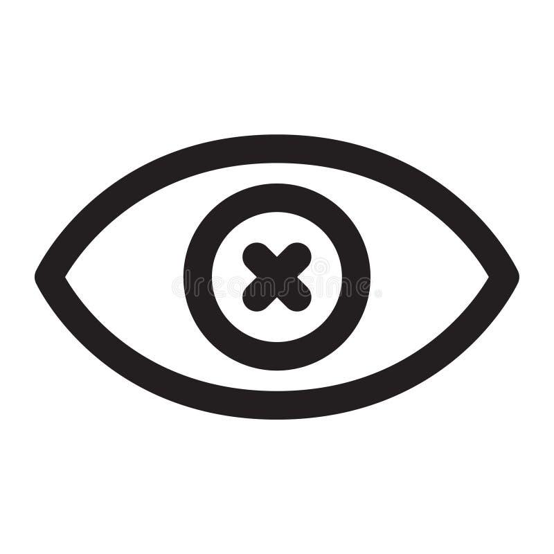 niewidomi oczy royalty ilustracja
