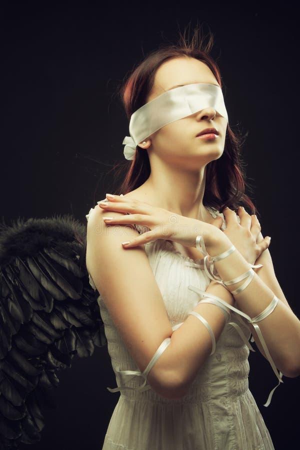 Niewidomy anioł zdjęcia royalty free