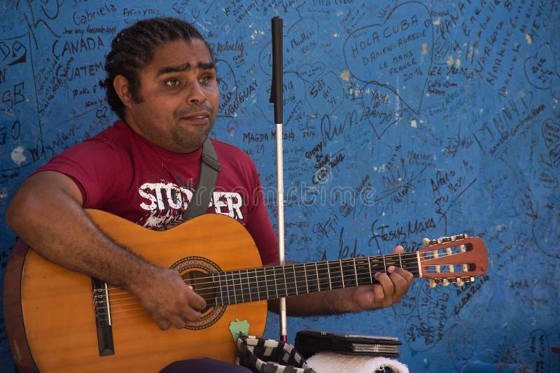 Niewidomy muzyk obrazy royalty free