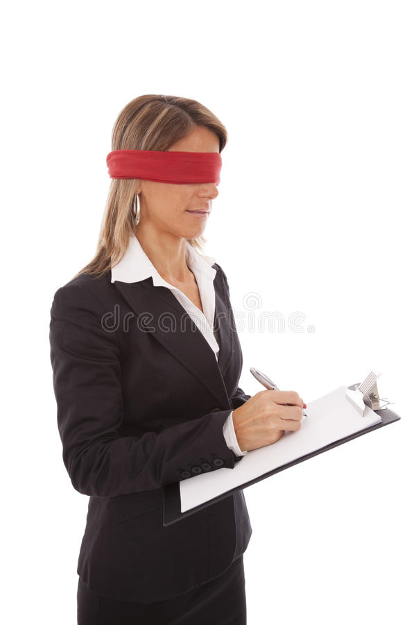 niewidomy podpis fotografia royalty free