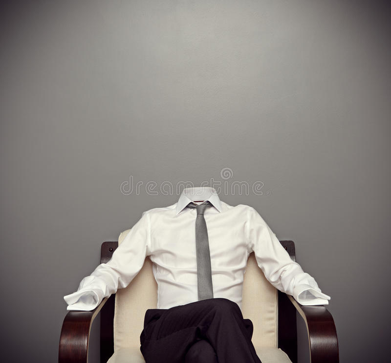 Niewidzialny mężczyzna obsiadanie na karle obraz stock