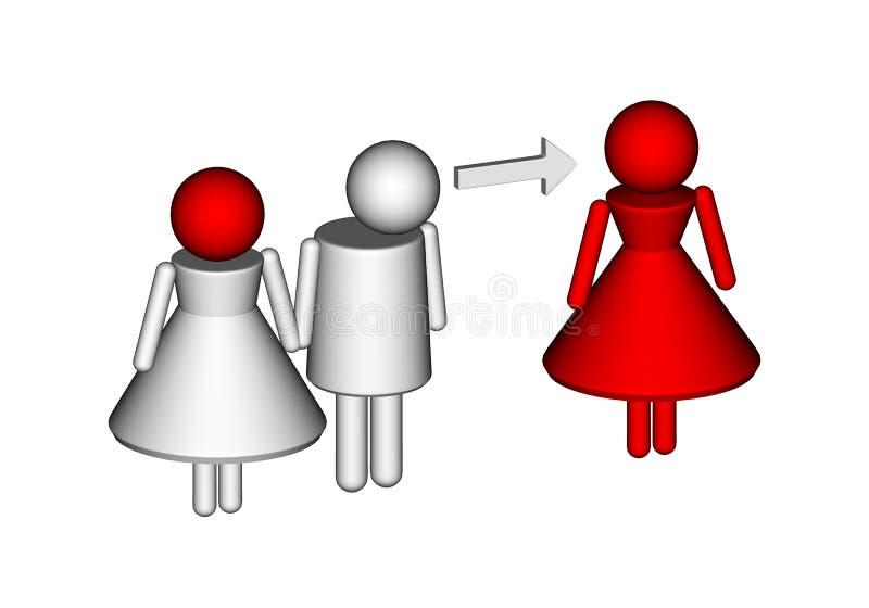 Niewierność royalty ilustracja