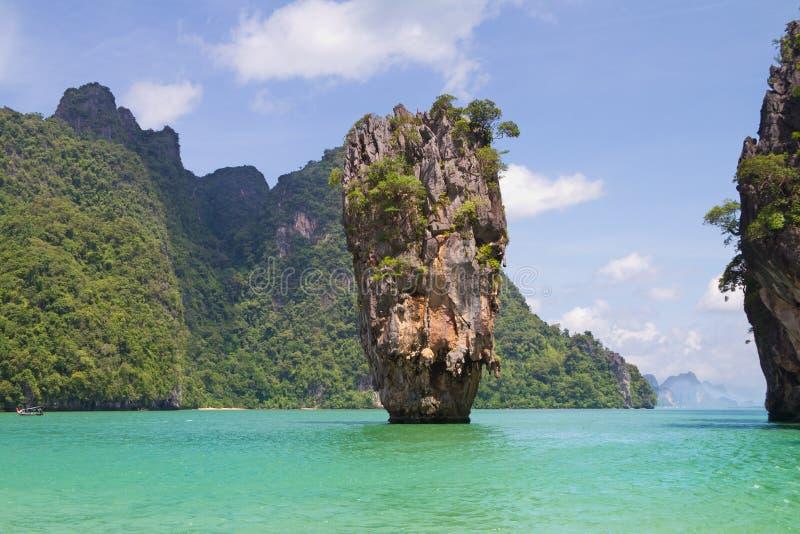 niewolna wyspa James Thailand obraz stock
