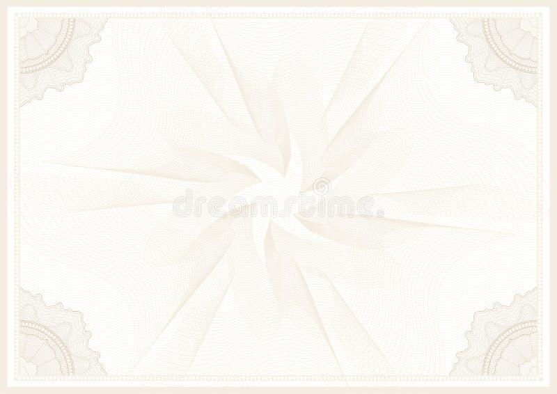Niewolnej ochrony watermark giloszuje deseniowy wektor komplikującą kreskową teksturę z kątami ilustracja wektor