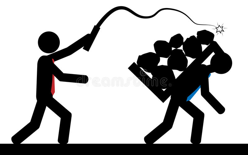 niewolnictwo ilustracja wektor