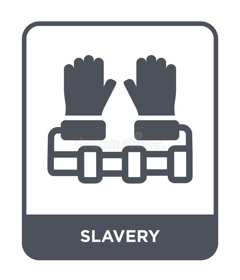 niewolnictwo ikona w modnym projekta stylu niewolnictwo ikona odizolowywająca na białym tle niewolnictwo wektorowej ikony prosty  royalty ilustracja