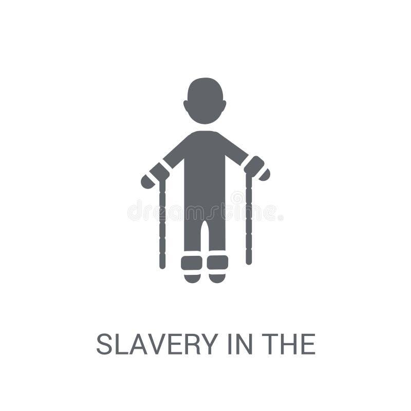 niewolnictwo w zlanej stan ikonie  ilustracja wektor