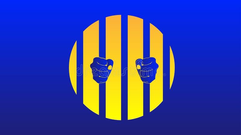 Niewolniczy błękitny tło EPS royalty ilustracja