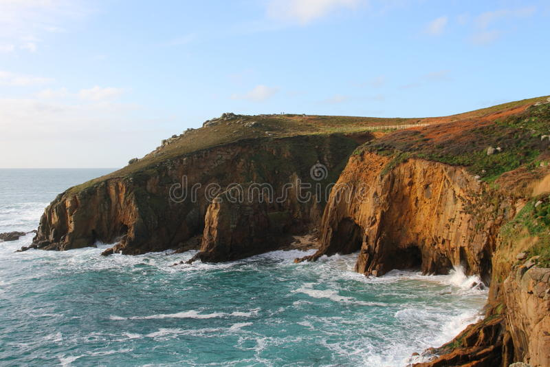 Niewygładzony Brzegowy Cornwall, Anglia fotografia stock