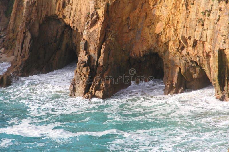 Niewygładzony Brzegowy Cornwall, Anglia obraz stock