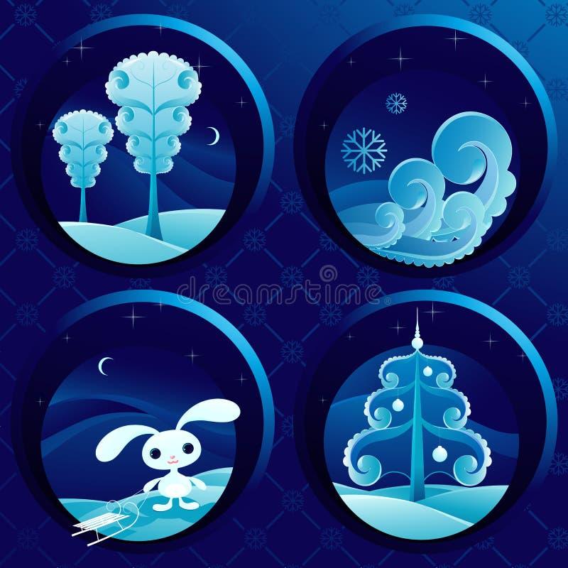 niezła sceny zimowe ilustracji