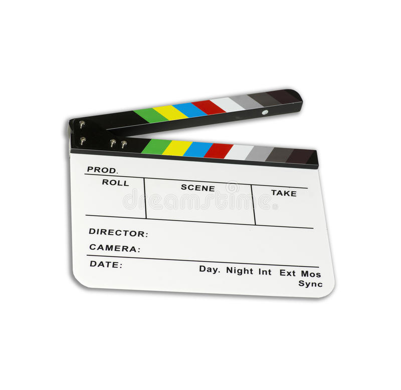 Niezależna filmu clapper deska - koloru checker - obrazy royalty free