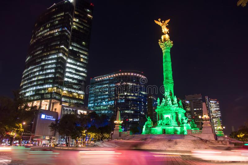 Niezależność anioł Meksyk zdjęcie stock