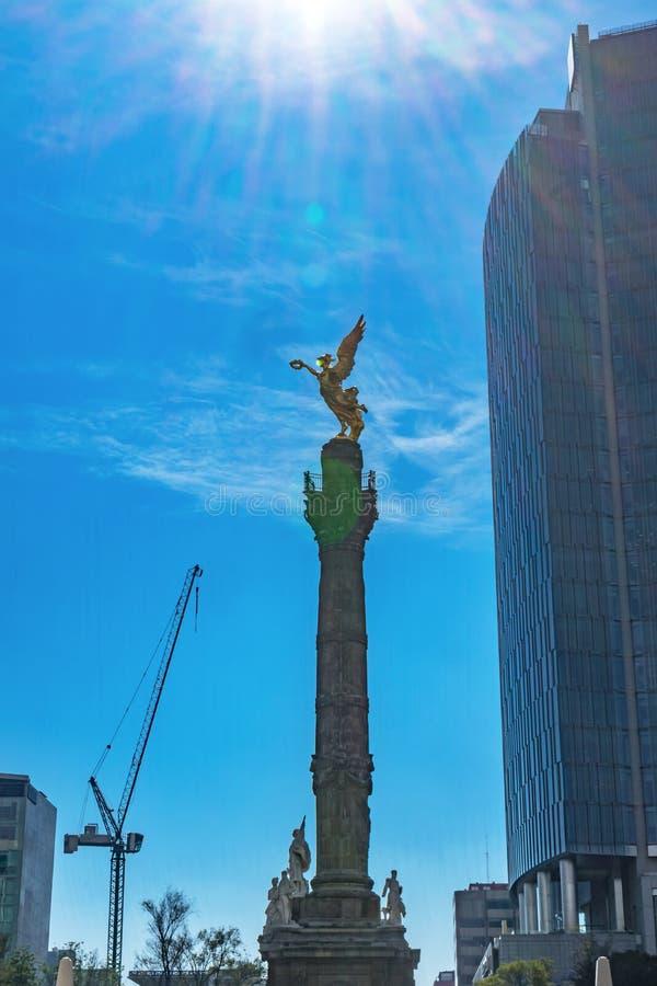 Niezależność anioła zabytek Pod słońcem Meksyk Meksyk zdjęcie stock