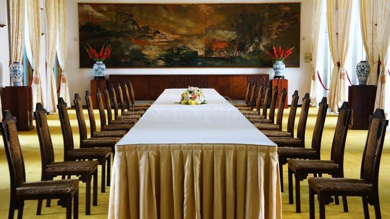 Niezależność pałac wnętrze, Ho Chi Minh fotografia royalty free