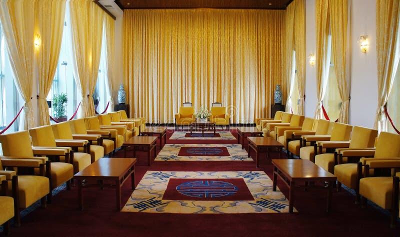Niezależność pałac wnętrze, Ho Chi Minh zdjęcie royalty free