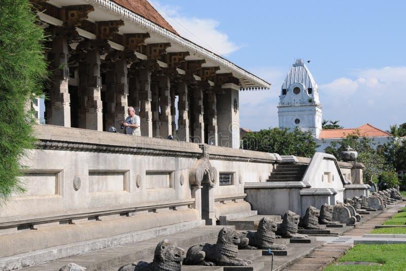 Niezależności sala w Kolombo otwierał jako symbol wyzwolenie Sri Lanka od UK deski obraz stock