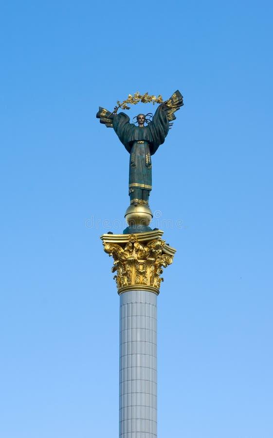 niezależności statua Ukraine zdjęcie stock