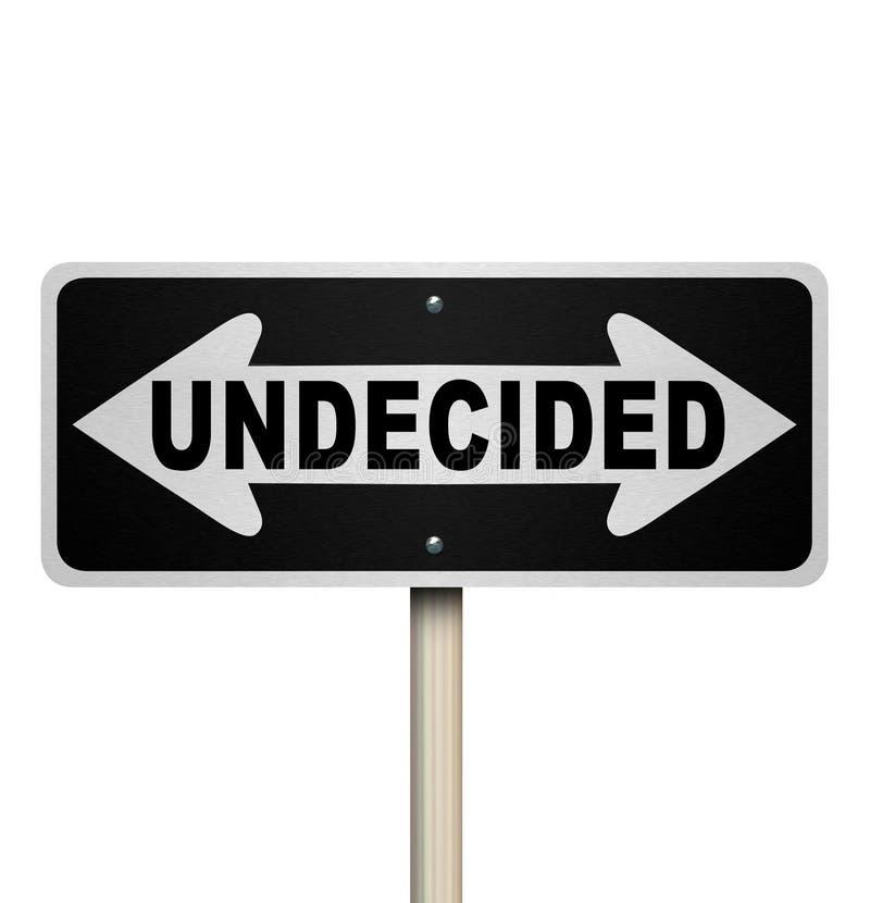Niezdecydowanego słowa dwudrogowy Drogowy znak - Odosobniony ilustracji