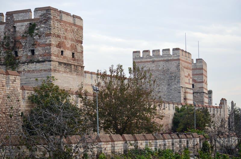 Niezdolny opierać się konkietę Istanbuł Bizantyjskie ściany obrazy stock