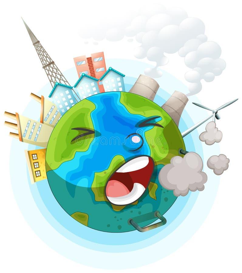 Niezdrowy ziemski ocon ilustracji