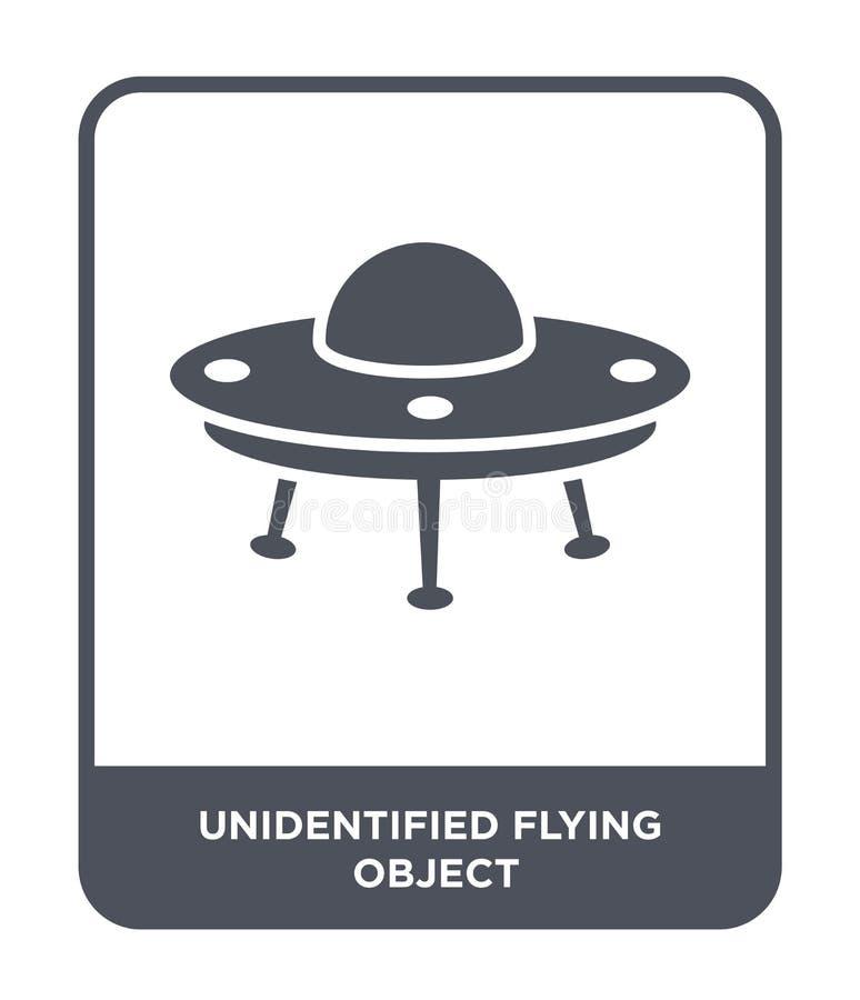 niezidentyfikowanego latającego przedmiota ikona w modnym projekta stylu niezidentyfikowanego latającego przedmiota ikona odizolo ilustracji