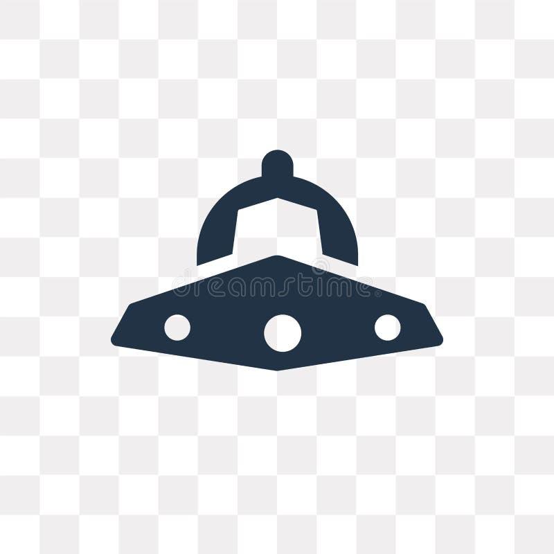 niezidentyfikowanego latającego przedmiota wektorowa ikona odizolowywająca na przejrzystym b royalty ilustracja