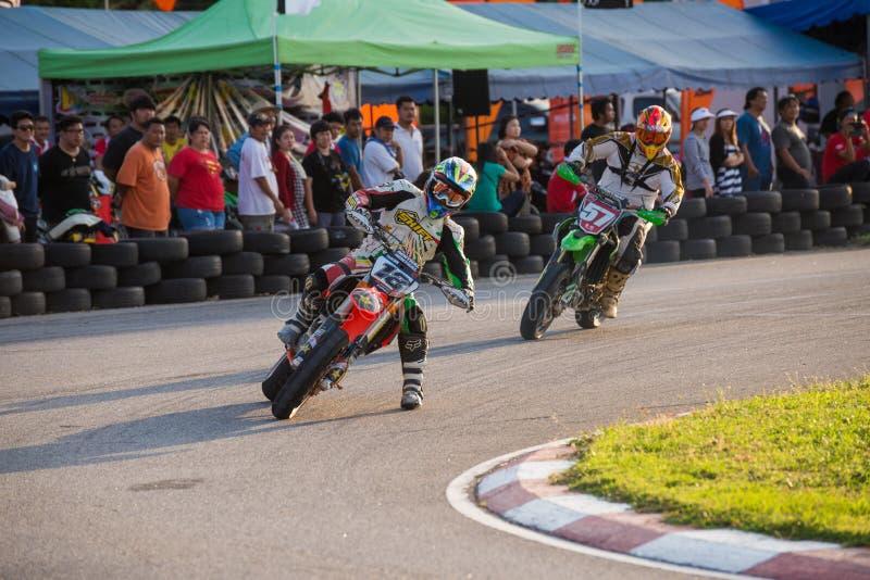 Niezidentyfikowani setkarzi w Super Moto 2014 zdjęcie stock