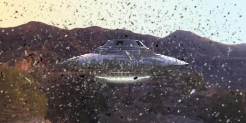 niezidentyfikowany latający przedmiot ilustracja wektor