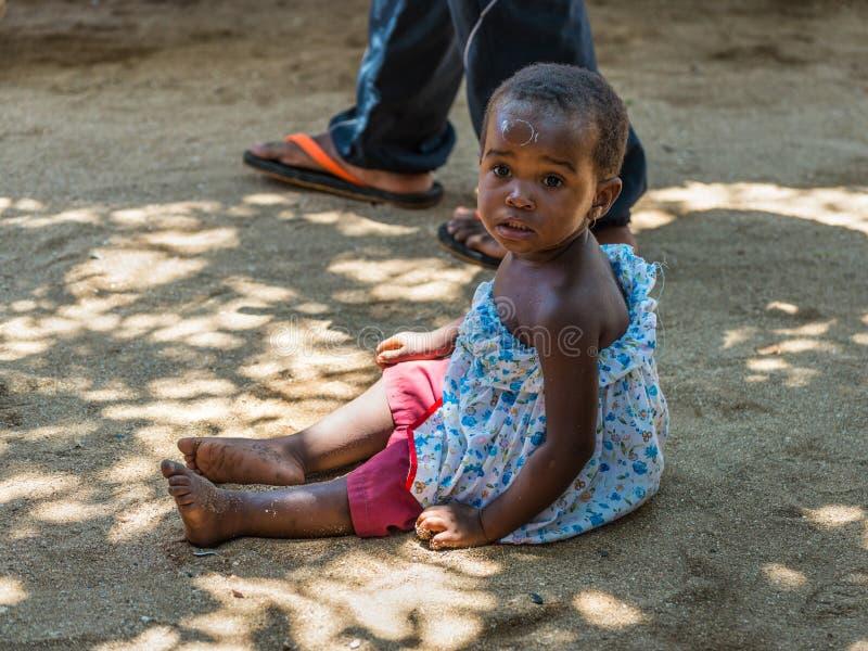 Niezidentyfikowany Madagascar dziecko fotografia royalty free