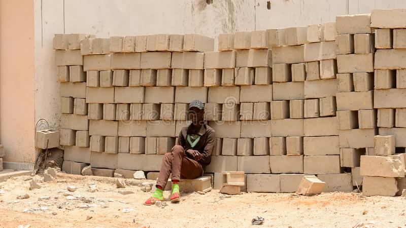 Niezidentyfikowany Senegalski zdjęcie royalty free