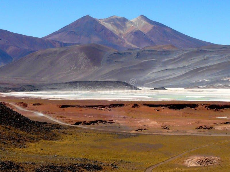 Niezwykły krajobraz wysokiej góry pustynia Atacama, Chile zdjęcie stock