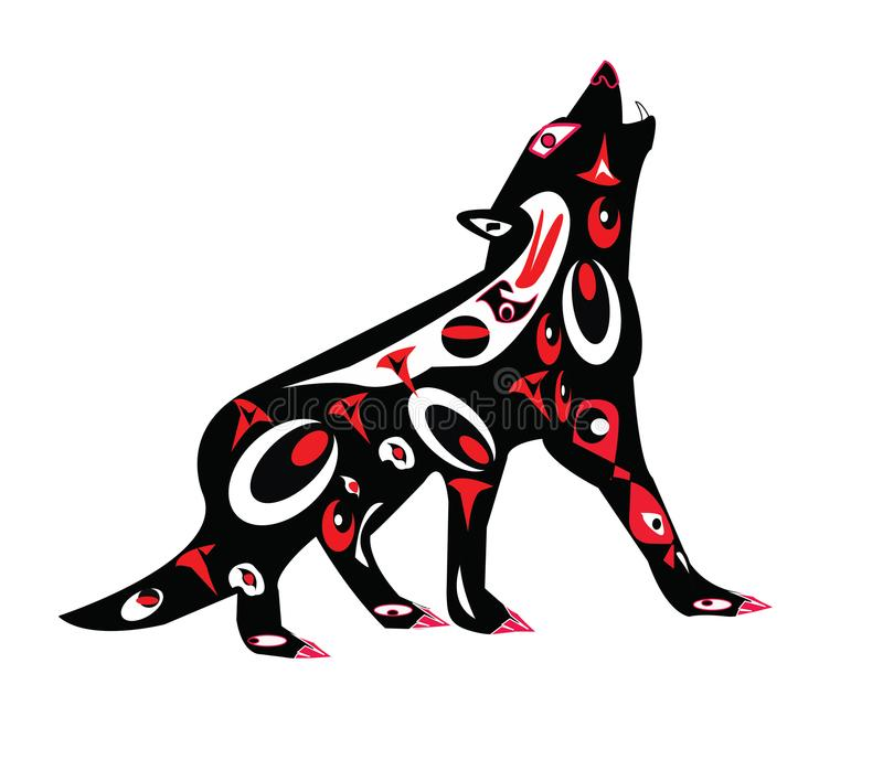 Niezwykły plemienny pies fotografia stock