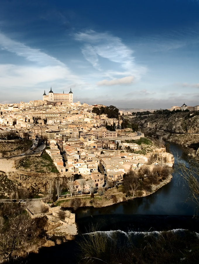 niezwykły Spain widok Toledo zdjęcie royalty free