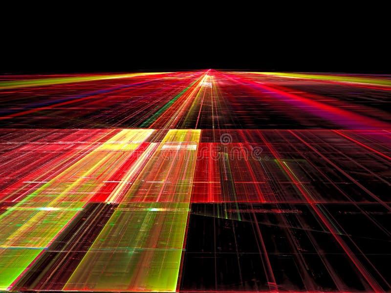Niezwykły sposób - abstrakta cyfrowo wytwarzający wizerunek ilustracja wektor