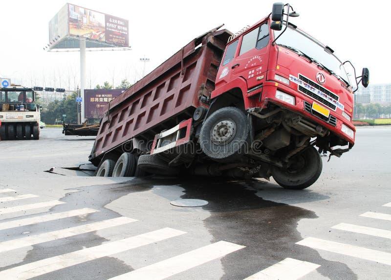 niezwykły wypadkowy ruch drogowy obrazy stock