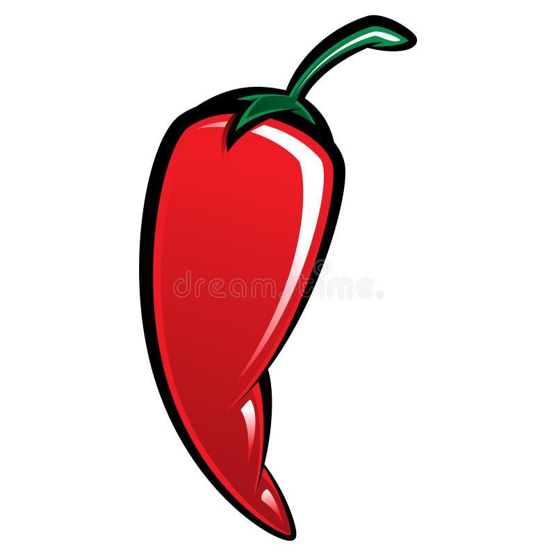 Niezwykle gorący chili pieprz royalty ilustracja
