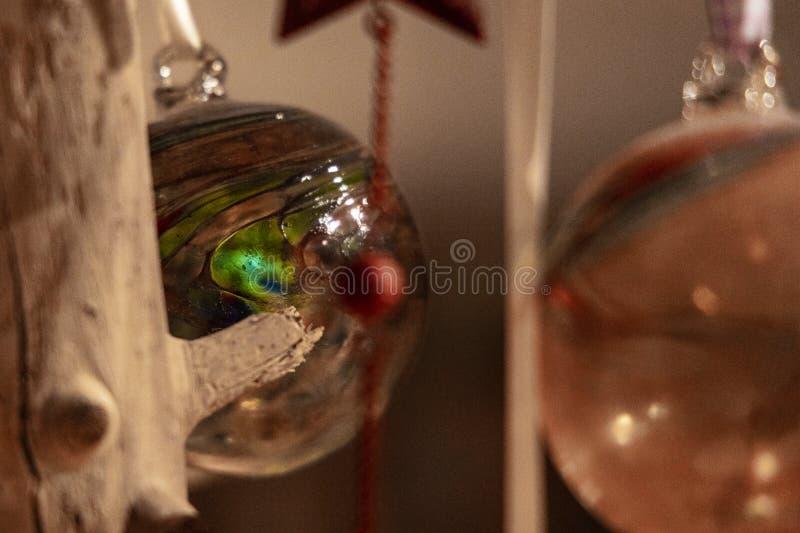 Niezwykle kolorowy ręcznie robiony boże narodzenie ornament obrazy stock