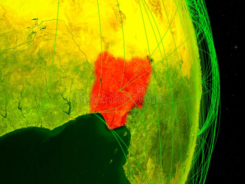 Nigéria na terra digital ilustração do vetor