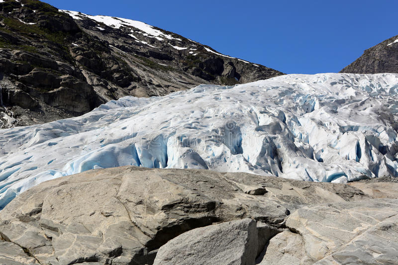 Nigardsbreen Gletscher stockfotos