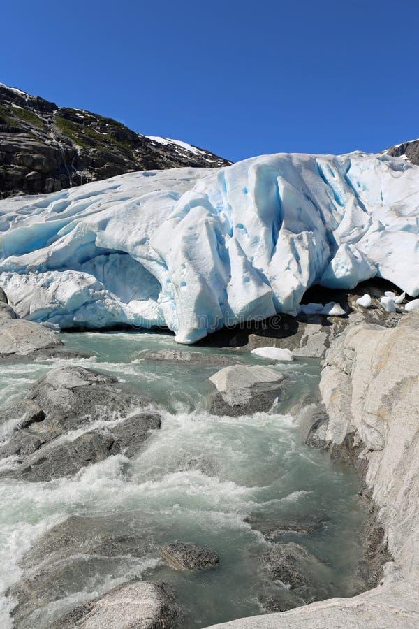 Nigardsbreen-Gletscher stockbild