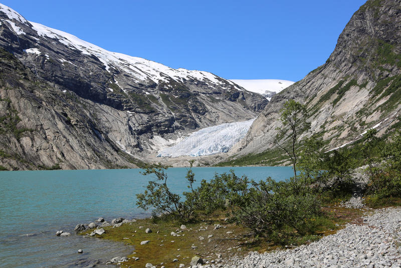 Nigardsbreen-Gletscher lizenzfreies stockfoto