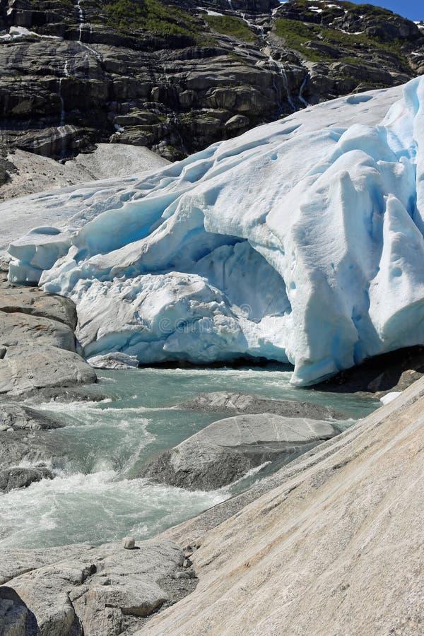 Nigardsbreen-Gletscher lizenzfreies stockbild