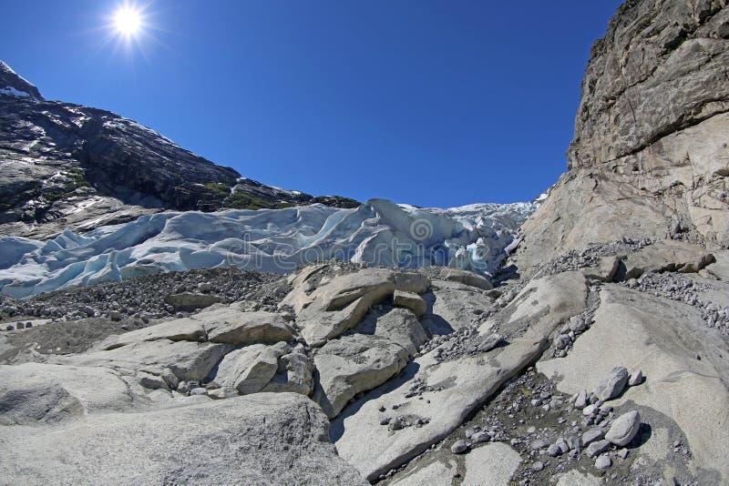 Nigardsbreen Gletscher - HDR lizenzfreie stockfotografie