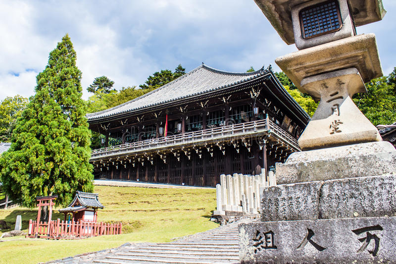 Nigatsu-do, at the Tōdai-ji, temple in Nara, Japan. stock photos