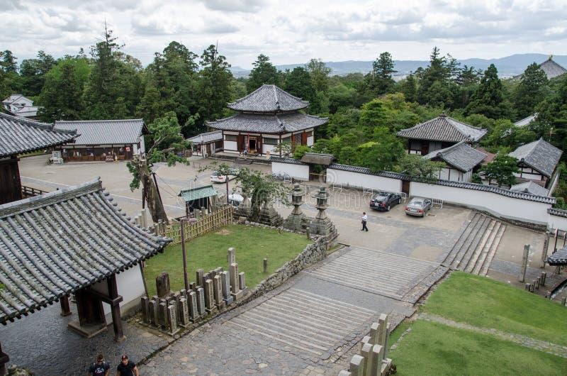 Nigatsu-font Hall à Nara japan image stock