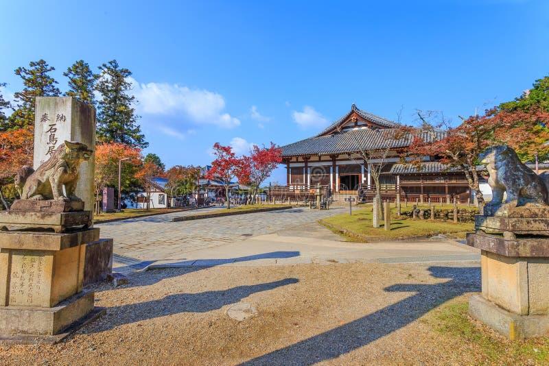 Nigatsu-font Hall de complexe de Todi-JI à Nara image libre de droits